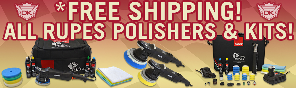 FREE SHIPPING ON ALL RUPES POLISHERS