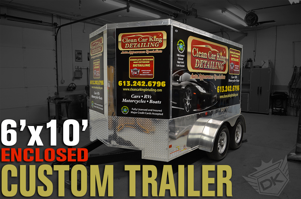 Mobile Auto Detailing Trailer Dk6100 Specifications