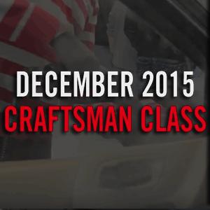 December 2015 Auto Detailing Craftsman Class