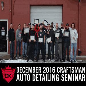 Detail King's LAST Craftsman Seminar of 2016
