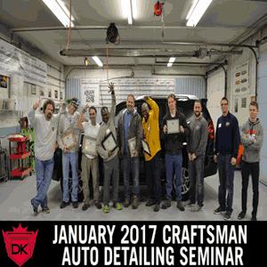 January 6th-8th 2017 Craftsman Auto Detailing Seminar