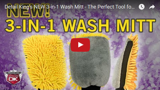 Detail King's NEW 3-in-1 Wash Mitt – The Perfect Tool for Washing your Car!