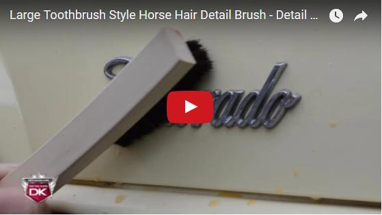 Large Toothbrush Style Horse Hair Detail Brush