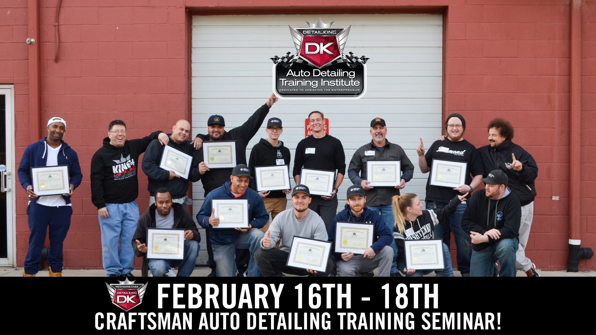 February 16th – 18th 2018 Craftsman Detailing Training Class