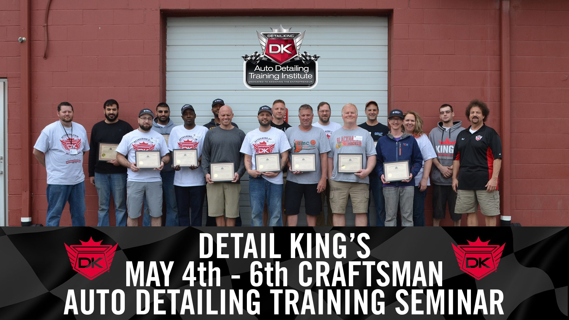 May 4th – 6th 2018 Craftsman Detailing Training Class