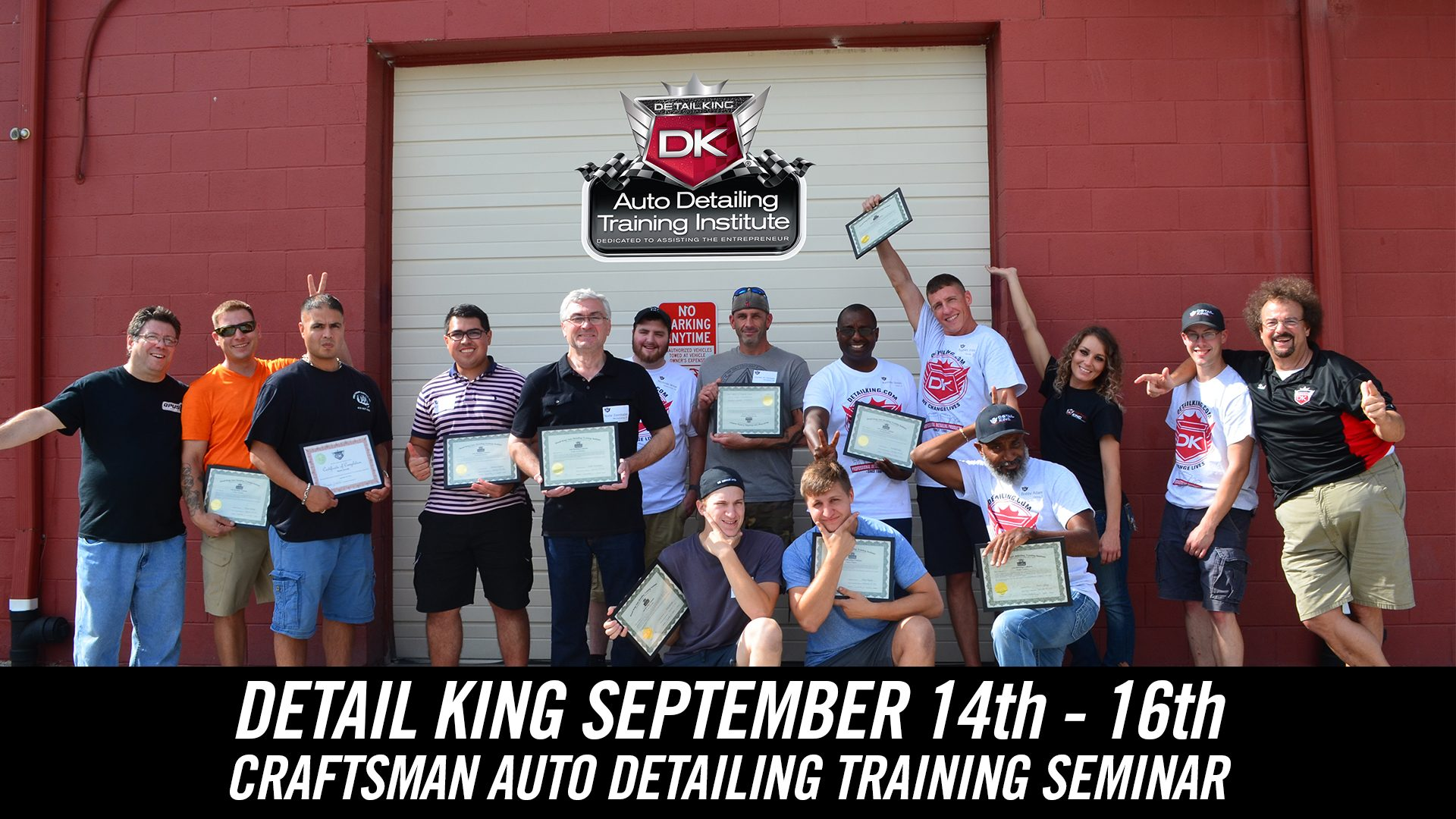 September 14th – 15th 2018 Craftsman Auto Detailing Training Seminar