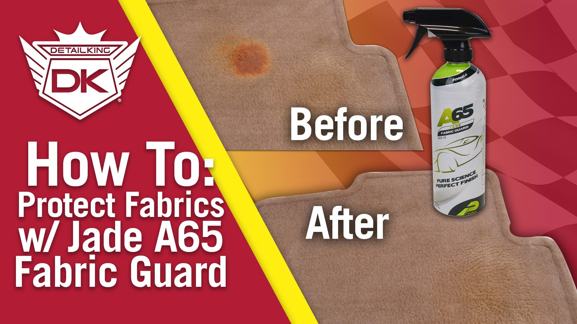 How To Protect Your Vehicle's Fabric with Jade A65 Fabric Guard