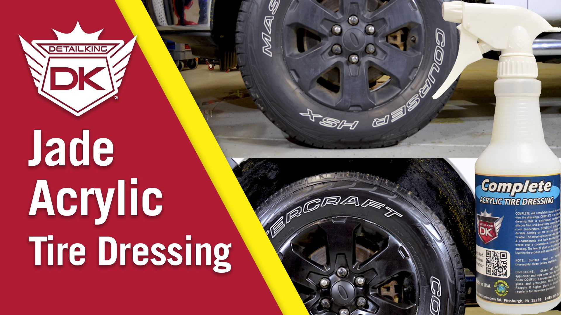 How To Restore and Protect Tires with Jade Complete Acrylic Tire Dressing