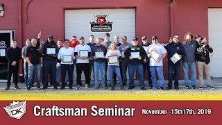 November 2019 Craftsman Seminar
