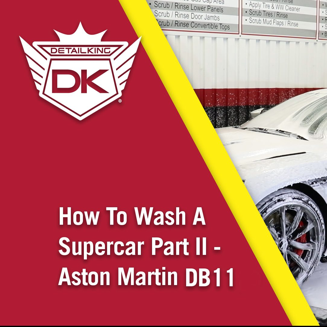 How To Clean Tires & Wheels On A Supercar – Part II – Aston Martin DB11