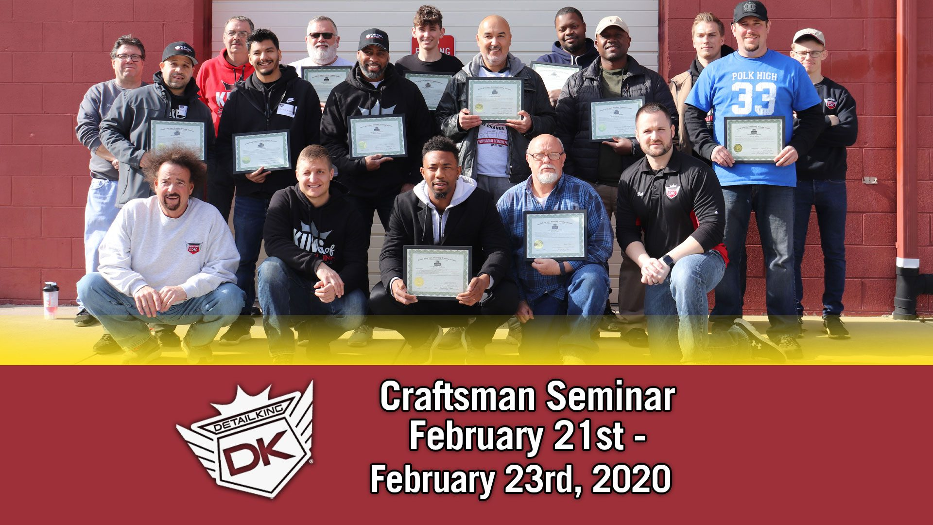 February 21st-23rd 2020 Craftsman Seminar