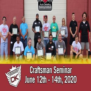 June 12th-14th 2020 Craftsman Seminar